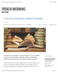 L'art de la traduction analysé à Brooklyn - French Morning_Page_1